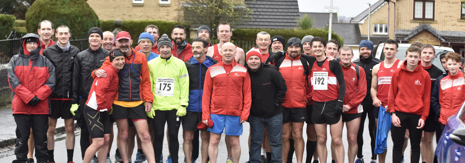 Members of Cambuslang Harriers at the club's Christmas handicap race