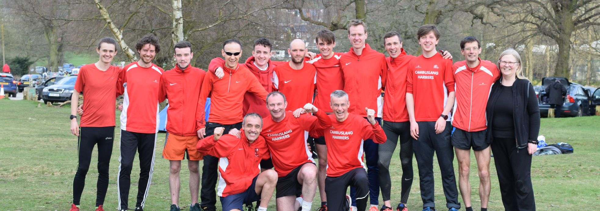 Cambuslang Harriers senior mens team at the ERRA 12 Stage Relays
