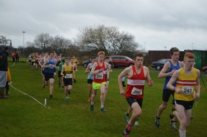 Grant and ryan in action in the U20 race