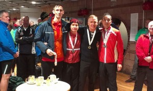 Team runners-up - Kenny, Scott, Colin and Kerry-Liam