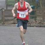 Kenny McNeill looking strong on the last leg for the B team