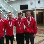 Winning M40 team of Kerry-Liam Wilson, Scott Hunter, James Healy and Mick OL'Hagan. Missing are Jamie Reid and Greg Hastie